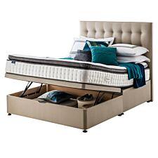 Silentnight Miracoil Geltex Ottoman Divan Bed - Sandstone
