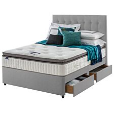 Silentnight Miracoil Geltex 4 Drawer Divan Bed - Grey