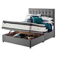Silentnight Miracoil Geltex Ottoman Divan Bed - Grey