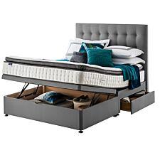 Silentnight Miracoil Geltex Ottoman 2 Drawer Divan Bed - Grey