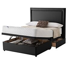 Silentnight Miracoil Ortho Ottoman 2 Drawer Divan Bed - Ebony