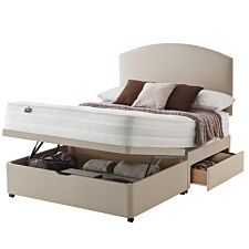 Silentnight Mirapocket 1200 Ottoman 2 Drawer Divan Bed - Sandstone