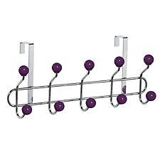 Premier Housewares Over-Door 10 Hook Hanger - Purple