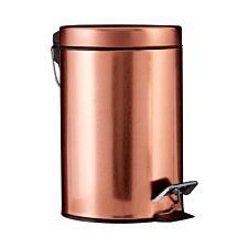 Premier Housewares 3L Pedal Bin - Copper