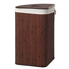 Premier Housewares Kankyo Bamboo Laundry Hamper - Dark Brown
