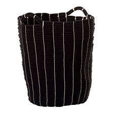Premier Housewares Lida Rope Laundry Baskets - Black & White