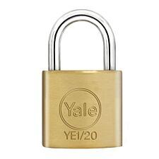 Yale Open Shackle Padlock 20mm Brass - 4 Pack