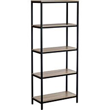 Teknik Industrial 4 Shelf Bookcase