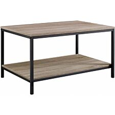 Teknik Industrial Style Coffee Table - Oak/Black