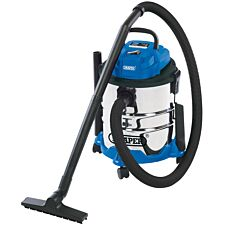 Draper 1250W 230V Wet and Dry Vacuum Cleaner with Stainless Steel Tank – 20L