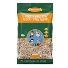 Johnston & Jeff Superior Wild Bird Food with Fruit - 20kg