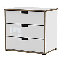 Jeoka 3-Drawer Chest - White
