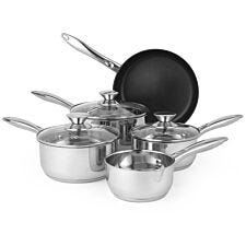 Russell Hobbs Classic 5 Piece Pan Set - Stainless Steel