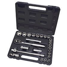 "Hilka 25pc 1/2"" Drive Socket Set Metric"