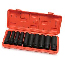 "Hilka 10pc 1/2"" Deep Impact Metric Socket Set"