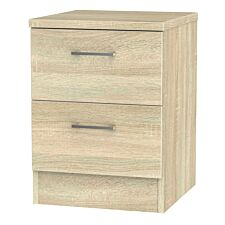 Yelanto 2-Drawer Bedside Cabinet - Oak