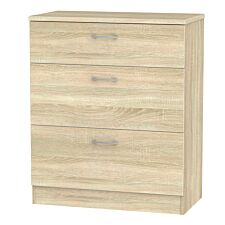 Yelanto 3-Drawer Chest of Drawers - Oak
