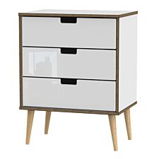 Jeoka Large 3-Drawer Chest - White