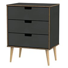 Jeoka Large 3-Drawer Chest - Black