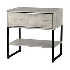 Kishara 1-Drawer Side Table - Stone