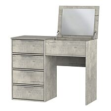 Kishara Dressing Table with Flip-Top Mirror - Stone