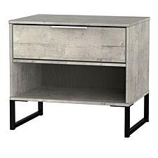 Kishara 1-Drawer Bedside Cabinet - Stone