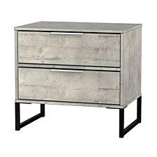 Kishara 2-Drawer Bedside Cabinet - Stone