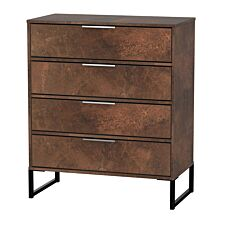 Kishara 4-Drawer Chest of Drawers - Copper