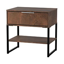 Kishara 1-Drawer Bedside Cabinet - Copper