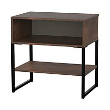 Kishara 2-Shelf Bedside Cabinet - Copper