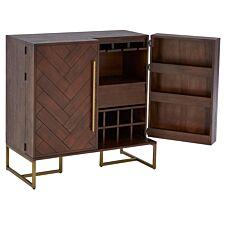 Brando Acacia Two-Door Drinks Cabinet