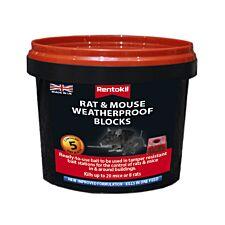 Rentokil Rat & Mouse Weatherproof Block x5