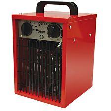Igenix 2kW Industrial Fan Heater - Red