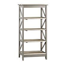 Halea Vintage 5 Tier Wide Shelf Unit