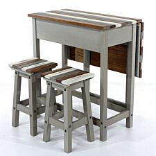 Halea Vintage Breakfast Table and Stool Set