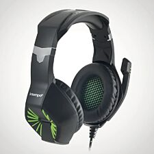 Intempo Gaming Headset with Microphone - Green/Black