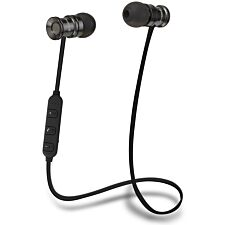 Groov-e Bullet Buds Wireless Metal Earphones with Remote and Mic - Silver