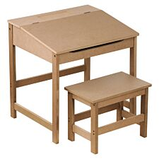 Kids Desk & Stool - Natural