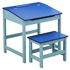 Kids Desk & Stool - Blue