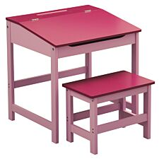 Kids Desk & Stool - Pink