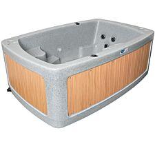 RotoSpa DuoSpa Compact S080 Hot Tub - Light Grey/Teak