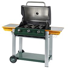 Outback Hunter 3-Burner Hybrid Gas & Charcoal BBQ - Green