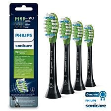 Philips HX9064/33 W3 Premium White Standard Sonic Toothbrush Heads 4 pack - Black