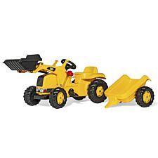 CAT Kids Tractor with Front Loader and Trailer