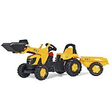 JCB Kids Tractor with Front Loader and Trailer