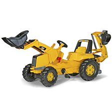 CAT Kids Tractor with Front Loader and Rear Excavator