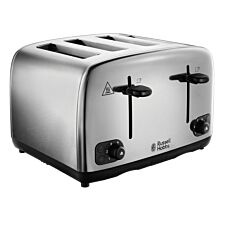 Russell Hobbs 24090 4-Slice Toaster - Brushed & Polished Stainless Steel