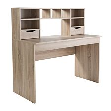 Alphason Albion Work Station Desk - Light Oak