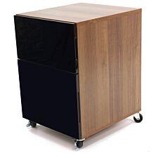 Alphason Juo Storage Pedestal - Walnut