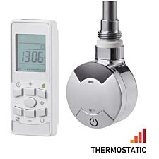 Heating Style Timed Remote Control Thermostatic Element + T-Piece - Chrome